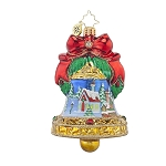 RADKO 1017616 VILLAGE CHIME - JEWELED BELL WITH 2 PAINTED SCENES ORNAMENT - NEW 2015 (15-4)