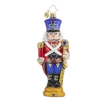 RADKO 1017658 STANDING WITH PRIDE - NUTCRACKER WITH STAFF ORNAMENT - NEW 2015 (15-6)
