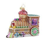 RADKO 1017679 SUGAR CHOO-CHOO - GINGERBREAD TRAIN ORNAMENT - NEW 2015 (15-7)