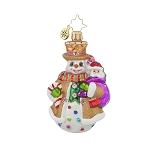 RADKO 1017713 WAFFLE WALLY GEM - GINGERBREAD SNOWMAN ORNAMENT - NEW 2015 (23)