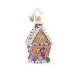 RADKO 1017715 SUGAR SHACK GEM - GINGERBREAD HOUSE ORNAMENT - NEW 2015 (23)