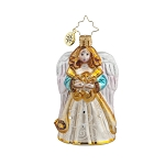RADKO 1017716 HEAVENLY SERENADE GEM - JEWELED ANGEL WITH HARP ORNAMENT - NEW 2015 (23)