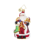 RADKO 1017718 A CHRISTMAS CLASSIC GEM - SANTA WITH GIFTS AND TOYS ORNAMENT - NEW 2015 (23)