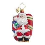 RADKO 1017723 CANDY SWING DELIGHT GEM - SANTA SITTING ON CANDY CANE ORNAMENT - NEW 2015 (23)