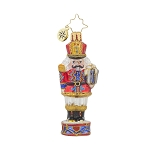 RADKO 1017725 BRIGADIER MAJOR CRACKER GEM - NUTCRACKER ON DRUM ORNAMENT - NEW 2015 (23)
