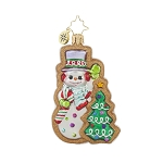 RADKO 1017728 FROSTY SWEET TREAT GEM - SNOWMAN GINGERBREAD COOKIE ORNAMENT - NEW 2015 (23)
