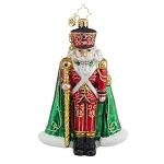 RADKO 1017790 MAJOR GENERAL CRACKER - JEWELED NUTCRACKER WITH STAFF ORNAMENT - NEW 2015 (15-9)