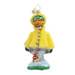 RADKO 1017795 READY FOR THE RAIN - DUCK IN RAIN COAT ORNAMENT - NEW 2015 (15-10)