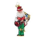 RADKO 1017796 ONE MAN BAND - SANTA PLAYING GUITAR, CYMBALS, HORN... ORNAMENT - NEW 2015 (15-10)