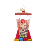 RADKO 1017802 3 FOR 5 - CANDY - GUM BALL MACHINE ORNAMENT - NEW 2015 (15-10)