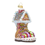 RADKO 1017804 SUGAR FOOT - GINGERBREAD BOOT HOUSE ORNAMENT - NEW 2015 (15-10)