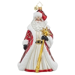 RADKO 1017809 REGAL WINTER WANDERER - SANTA WITH STAFF ORNAMENT - NEW 2015 (15-10)