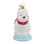 RADKO 1017812 POLAR PAUL - POLAR BEAR ON ICE ORNAMENT - NEW 2015 (15-10)