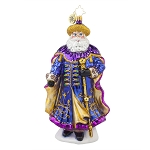 RADKO 1017879 WONDEROUS JOURNEY - ELEGANT SANTA WITH CAPE & STAFF ORNAMENT - NEW 2015 (15-12)