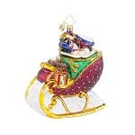 RADKO 1017909 RUBY SLEIGHRIDE - RED SLEIGH FULL OF TOYS ORNAMENT - NEW 2015 (15-13)