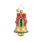 RADKO 1017917 GOLDEN CHIME GEM - JEWELED BELL ORNAMENT - NEW 2015 (23-1)