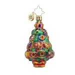 RADKO 1017918 CHRISTMAS SPREE TREE GEM - JEWELED TREE ORNAMENT - NEW 2015 (23-1)