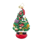 RADKO 1017933 SANTA TREE STACK - TREE DECORATED WITH TOYS ORNAMENT - NEW 2015 (15-13)