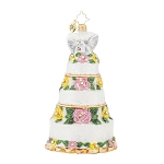 RADKO 1017934 BRIDAL CENTERPIECE - JEWELED WEDDING CAKE ORNAMENT - NEW 2015 (15-13)