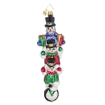 RADKO 1017938 GRACEFUL BALANCE - STACK OF 3 SNOWMEN ORNAMENT - NEW 2015 (15-14)
