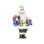 RADKO 1017955 SALUTE TO YOU - SANTA IN CAMOUFLAGE ORNAMENT - NEW 2015 (15-14)