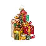 RADKO 1017957 GLAMOROUS GIFTS - STACK OF GIFTS ORNAMENT - NEW 2015 (15-14)