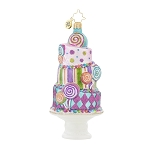 RADKO 1018003 SUGARY FUN - STACK OF CAKE & CANDY ORNAMENT - NEW 2015 (15-15)