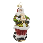 RADKO 1018033 DRESSED TO A T - SANTA ORNAMENT - NEW 2015 (15-16)