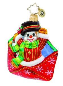 RADKO 1015632 SPECIAL DELIVERY GEM - SNOWMAN - NEW 2011 (19)