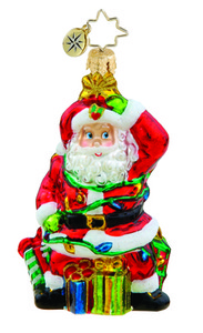 RADKO 1015636 TANGLED SANTA GEM - SANTA WITH LIGHTS - NEW 2011 (19)