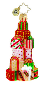 RADKO 1015644 CHRISTMAS CLUSTER GEM - STACK OF PRESENTS - NEW 2011 (19)