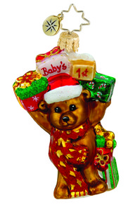 RADKO 1015633 BOUNCING BABY BEAR GEM - BABY'S 1ST - NEW 2011 (19)