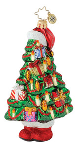 RADKO 1015046 NICHOLAS FIR TREE - PRESENTS - TREE - RETIRED ORNAMENT (Q7)