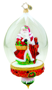 RADKO 1015538 WOODLAND TRAVELER - LIMITED EDITION 750 - SANTA IN DOME - NEW 2011 (11-1)