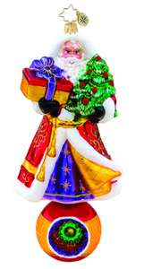 RADKO 1015481 MAJESTIC REFLECTIONS - LIMITED EDITION 1000 - SANTA ON BALL WITH REFLECTOR ORNAMENT - NEW 2011 (11-1)