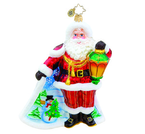 RADKO 1015576 SCENIC SURPRISE SANTA - LIMITED EDITION 1500 - SANTA - NEW 2011 (11-1)
