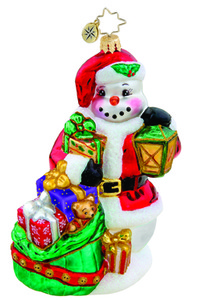 RADKO 1015611 FROSTY SUBSTITUTE - LIMITED EDITION 1000 - SNOWMAN WITH GIFTS - NEW 2011 (11-1)
