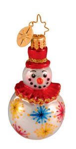 RADKO 1013779 MR FLURRY RUFFLE GEM - SNOWMAN - RETIRED ORNAMENT (14)