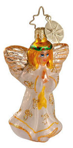 RADKO 1012595 WINGS AND A PRAYER GEM - ANGEL - RETIRED ORNAMENT (3)