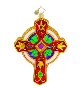 RADKO 1015452 BEJEWELED BLESSING - RELIGIOUS -  JEWELED CROSS ORNAMENT - NEW 2011 (11-8)