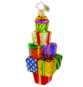 RADKO 1015787 GIVING TREE - STACK OF GIFTS ONAMENT - NEW 2011 (11-2)
