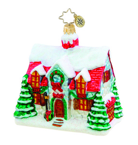 RADKO 1015440 HOME FOR THE HOLIDAYS - SNOW COVERED HOUSE - NEW 2011 (11-3)