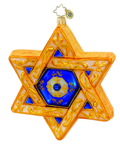 RADKO 1015732 GUIDING STAR - STAR OF DAVID HANUKKAH ORNAMENT - NEW 2011 (11-7)