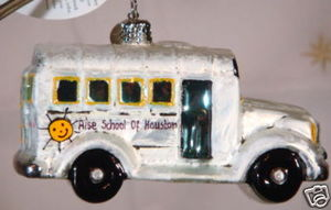 RADKO 3011329 THE RISE SCHOOL OF HOUSTON - EXCLUSIVE BUS - RETIRED ORNAMENT (N1)