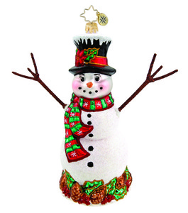 RADKO 1015804 PINE CONE PAL - SNOWMAN - GIFT STORE EXCLUSIVE - NEW 2011 (11-12)