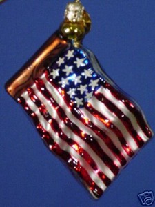 RADKO 02-0723-0 STARS AND STRIPES GEM - FLAG - PATRIOTIC - RETIRED ORNAMENT (9)