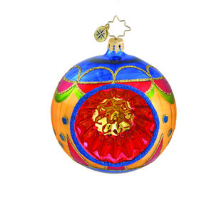 RADKO 1015869 MISSION BALL - VINTAGE BALL AND DROP COLLECTION - BALL WITH REFLECTOR ORNAMENT - NEW 2011 (11-14)