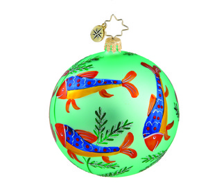 RADKO 1015871 DEEP SEA DROP - VINTAGE BALL AND DROP COLLECTION - BALL ORNAMENT - NEW 2011 (11-14)
