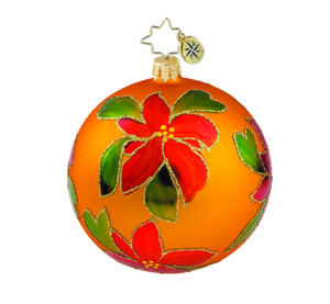 RADKO 1015874 HOLIDAY SPARKLE - VINTAGE BALL AND DROP COLLECTION - BALL ORNAMENT - NEW 2011 (11-14)