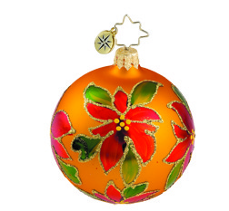 RADKO 1015892 HOLIDAY SPARKLE MINI - VINTAGE BALL AND DROP COLLECTION - BALL ORNAMENT - NEW 2011 (11-14)